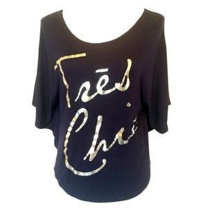 🎁 Blue Tres Chic Tee Shirt